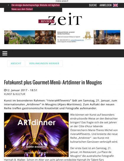 Riviera Zeit, 12 janvier 2017